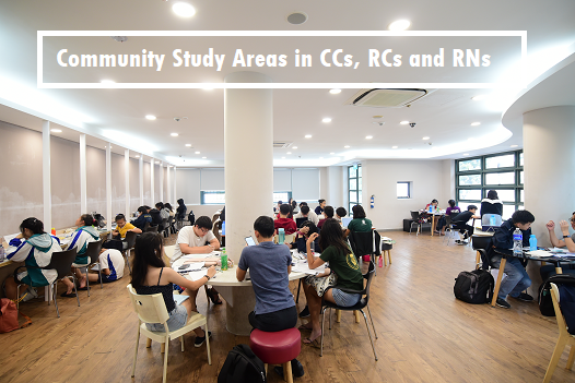 Community study areas in CCs, RCs, and RNs for students